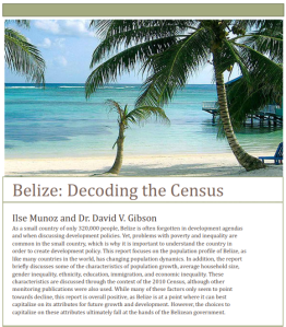 Belize - Decoding the Census - Cover